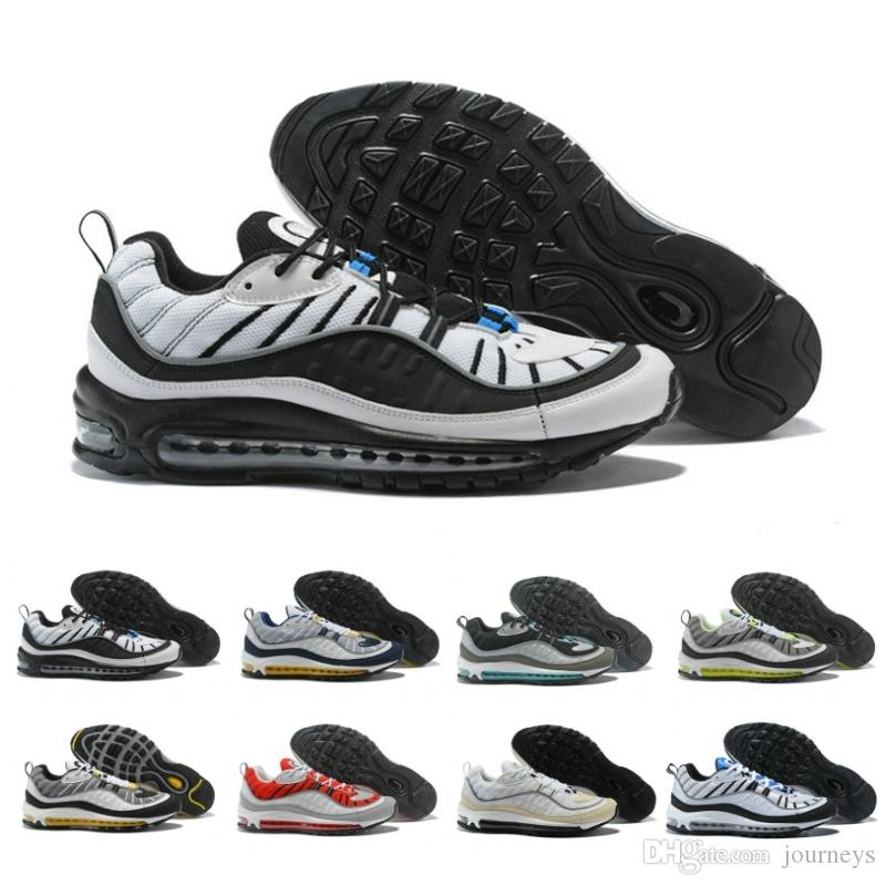 b8b61d96f03 2019 New 98 Mens Trainers Running Shoes Stripe Design Black And Blue Bullet  Top Quality Athletics Sport Sneakers Basketball Shoes Men Shoes Running  Shoes ...