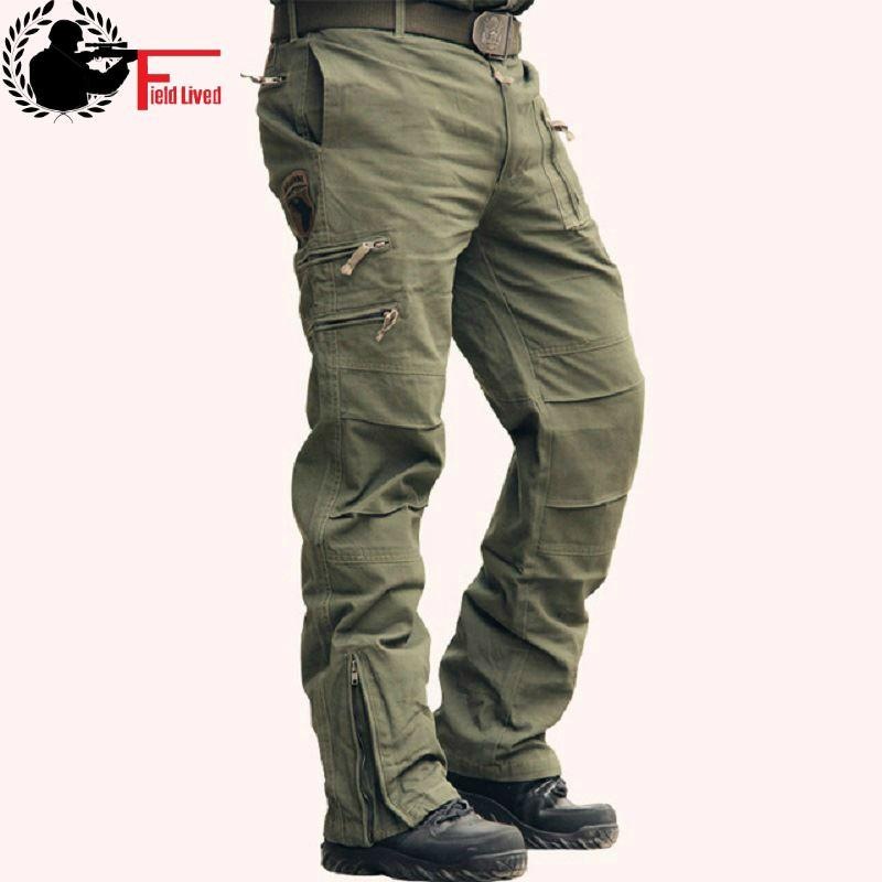 9a2f6e1e24e 2019 Tactical Pants Male Camo Jogger Casual Plus Size Cotton Trousers Multi  Pocket Military Style Army Camouflage Men S Cargo Pants From Acore