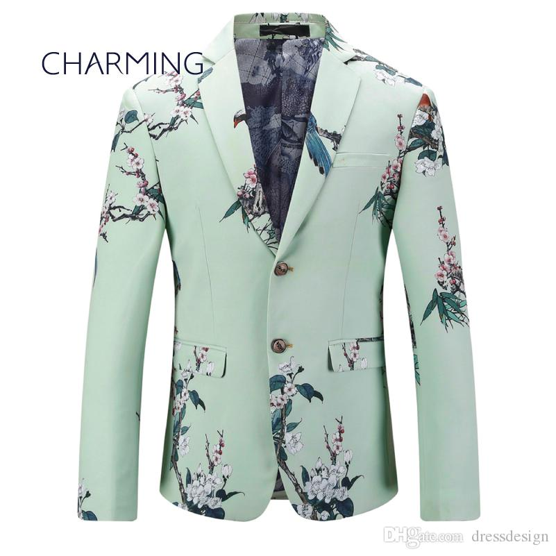 Mens Green Suit Men\'S Jacket Suitable For Singers To Perform ...