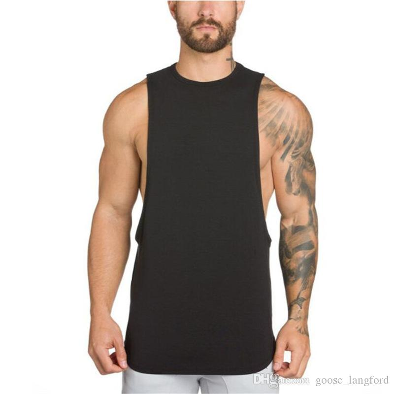vest Tank tops GAIN gyms clothing bodybuilding stringer gyms tank top men fitness singlet cotton sleeveless shirt muscle vest for men