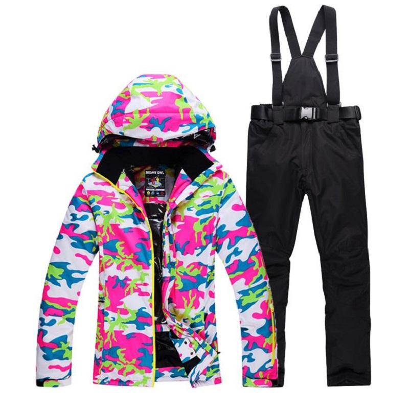 46d212c10c Winter Ski Suit Women Brands 2018 High Quality Ski Jacket And Pants Snow  Warm Waterproof Windproof Skiing And Snowboarding Suits UK 2019 From  Xuelianguo