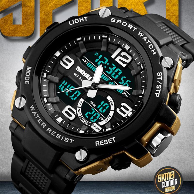 Digital Watches 2018 New Skmei Luxury Brand Men Military Watches Full Steel Men Sports Watches Digital Led Quartz Wristwatches Relogio Masculino