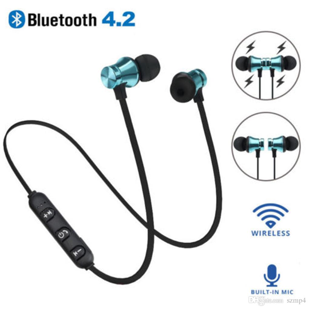 5d4ebbc723c XT11 Wireless Bluetooth Headphones Sports In Ear BT 4.2 Stereo Magnetic Earphone  Headset Earbud With Mic For Iphone X Samsung With Package Underwater ...