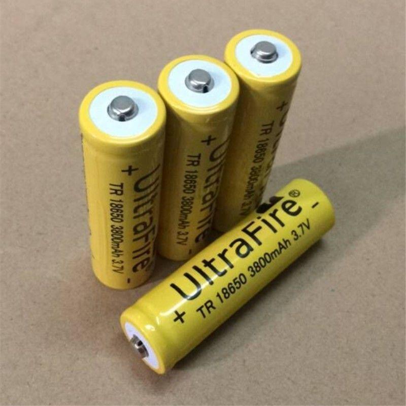 Das 18650 Lithiumbatteriegelbfeuer 3800mah 3.7V kann für helle Taschenlampe und elektronische Produkte benutzt werden