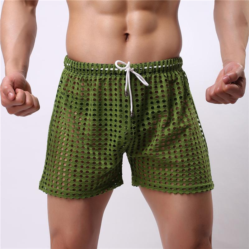 Pantaloncini sexy da uomo in boxer con intimo Gay Scava fuori dal buco Mens Sottili Sissy con mutandine da borsa Vedi attraverso Mens Boxer Pantaloncini intimo