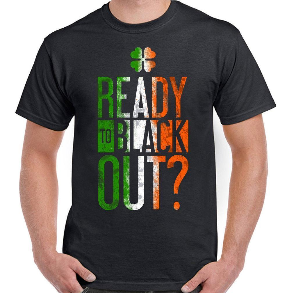 0151134d Ready To Black Out? Mens Funny St. Patrick's Day T-Shirt Guinness Beer Irish  Bar