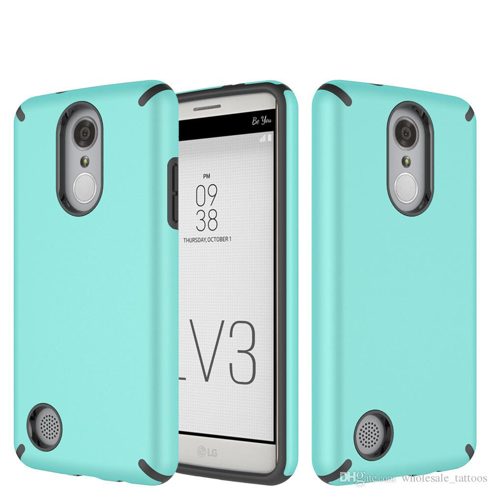 Sleek Back Cover Armor Hybrid Full Body Shockproof TPU Case For LG Rebel 3  Risio 3 Zone 4 Fortune Phoenix 3 Rebel 2 Risio 2 V3 K4 2017 L58VL