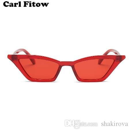 e225ab6d83 Vintage Sunglasses Women Cat Eye Luxury Brand Designer Sun Glasses Retro Small  Red Ladies Sunglass Black Eyewear Oculos Baseball Sunglasses John Lennon ...