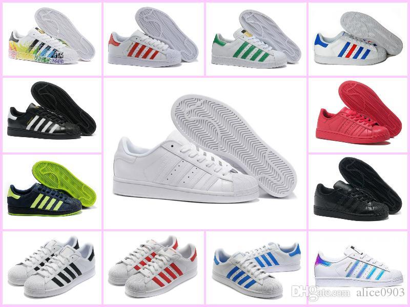 Acheter 2018 Adidas New Originals Superstar Blanc Hologramme Iridescent  Junior Superstars Années 80 Fierté Sneakers Super Star Femmes Hommes Sport  Casual ... 829fb1aa37c9