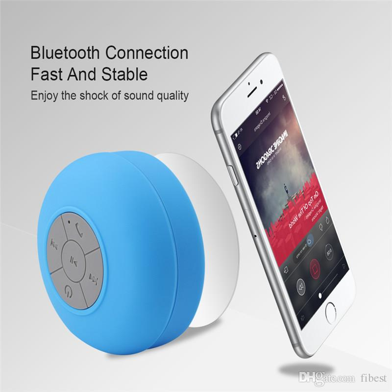 Mini Bluetooth Speaker Waterproof Portable Wireless Car Subwoofer Shower Speakers Music Suction with Mic for Phone MP3