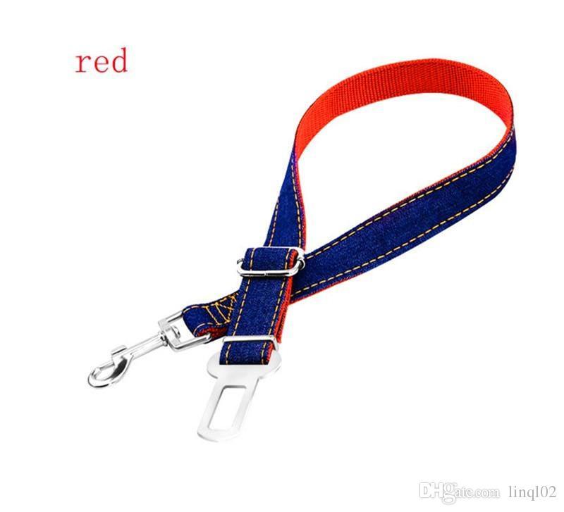 Retail Packaging  - Adjustable Pet Dog Harnesses Seat Belt Lead Restraint Strap Car Safety -  Metal Buckle- KKA1017