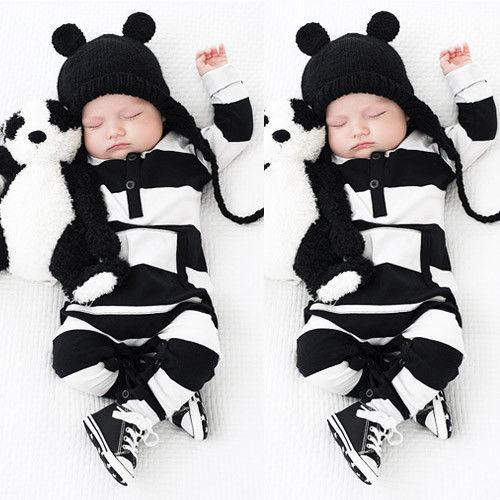 045c59365 0-3Y Baby Boys Girls Infants Clothes Long Sleeve Rompers Outfits ...