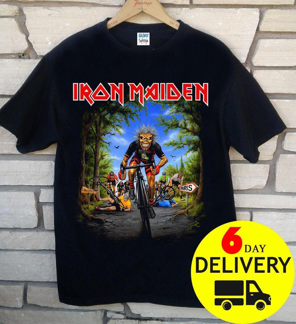Compre Iron Maiden Tour De France 2018 Camiseta Rare Black Wholesale Manga  Corta Tamaño Completo Moda Ropa Clásica Camiseta Con Estampado Divertido  Tops ... 0cc1aba059d