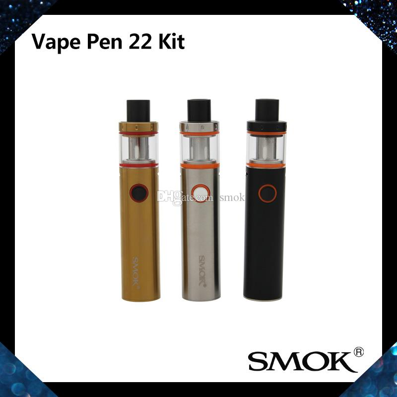 Smok vape القلم 22 عدة مع بطارية 1650 مللي أمبير أعلى ملء vape القلم 22 دبابة ذكي عمر مؤشر البطارية 100٪ الأصلي