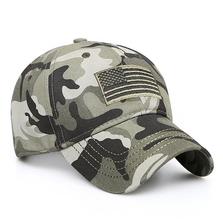 New Men USA Flag Camouflage Baseball Cap Army Embroidery Cotton Tactical  Snapback Dad Hat Male Summer Sports America Trucker Cap Canada 2019 From  Heathere 91f059bf48d2