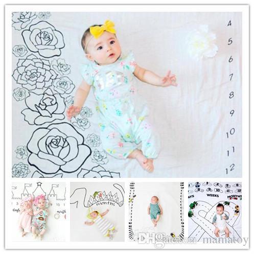 100100cm Baby Monthly Milestone Blanket Newborn Photography