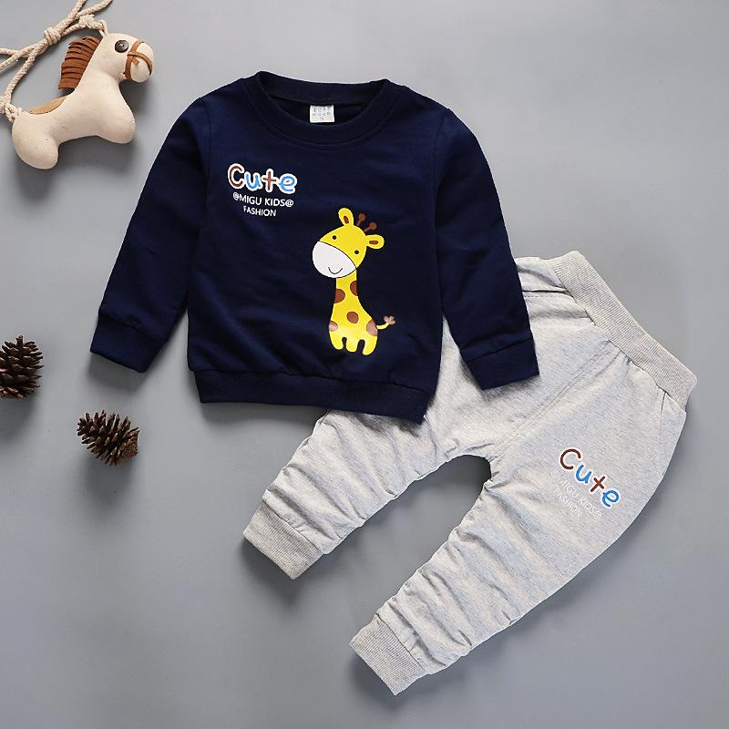6215a5e1 2019 Kids Winter Clothes Cute Giraffe Printed T Shirt Set Comfortable Warm  Children Clothing Girl Winter Clothes For Kids 3 Years Old From Buycenter,  ...
