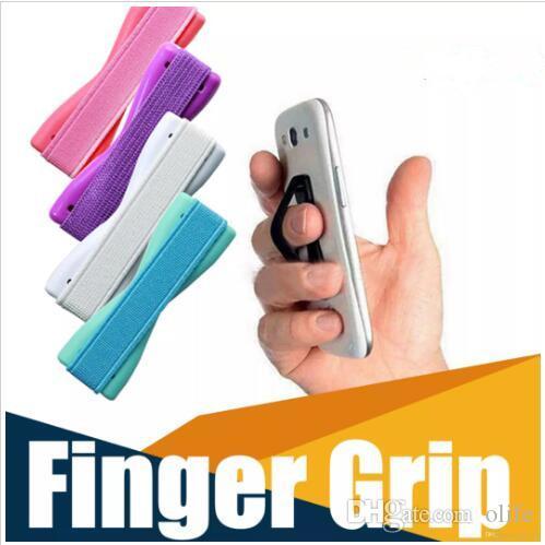 ada14bdac5 Compre Sling Universal Aperto Dedo De Borracha Titular Handle Back Sticker Única  Mão Elástico Anti Cinto Deslizante Para Iphone X 7 8 6 Plus De Olife, ...