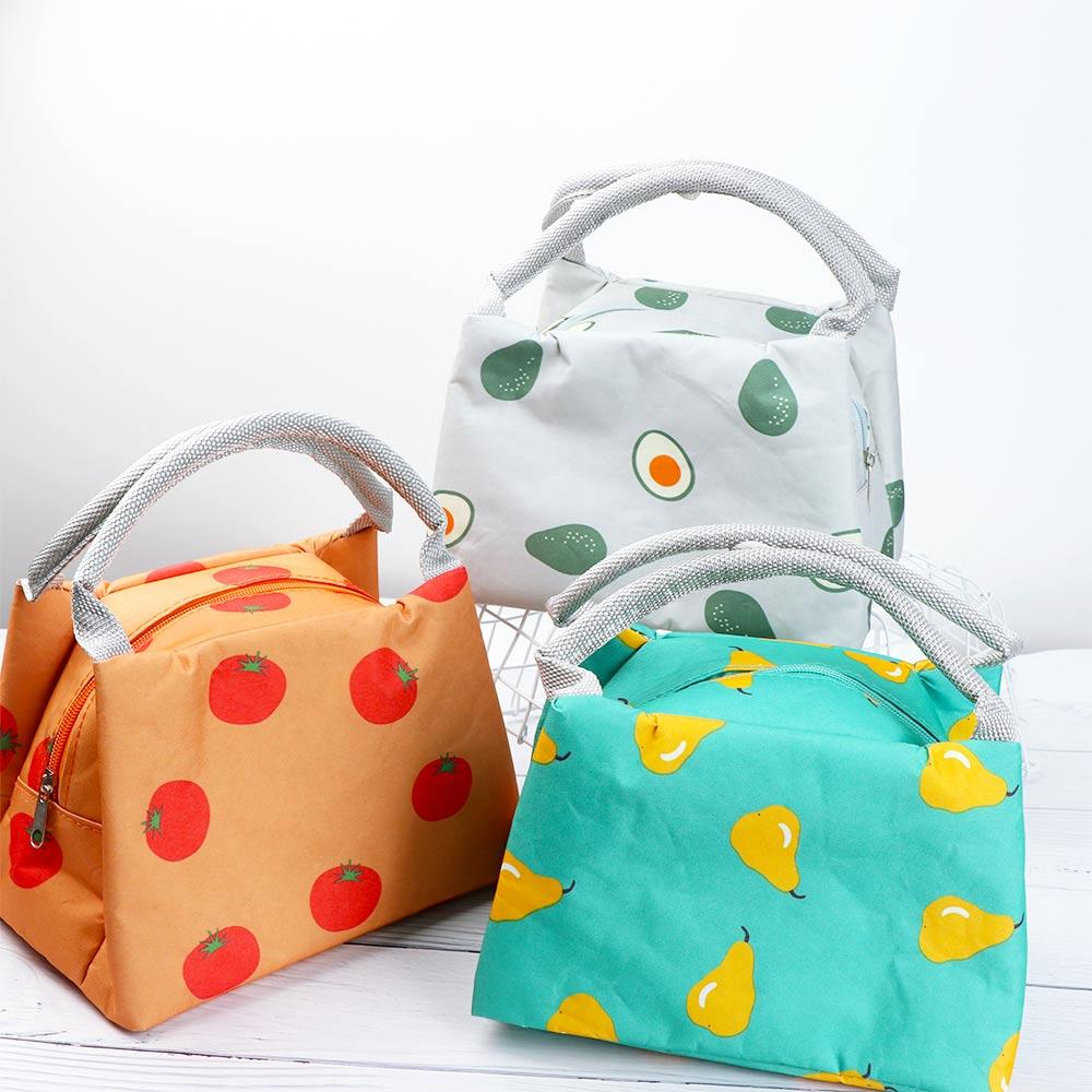 Fashion Cute Fruit Printed Portable Travel Picnic Lunch Bag Large ... a2cca70f0fa81