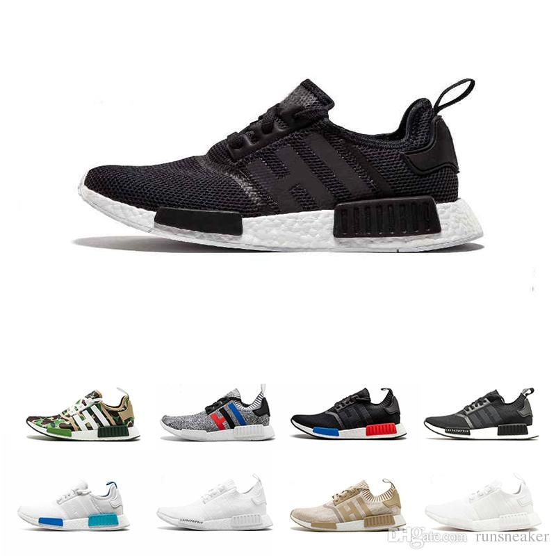 4c694fb33219c1 NMD Runner R1 Running Shoes For Men Women Primeknit Triple Black White Nmd  R1 Designer OREO NMDS Runner Sports Sneakers Special Price 36 45 Sports  Shoes For ...