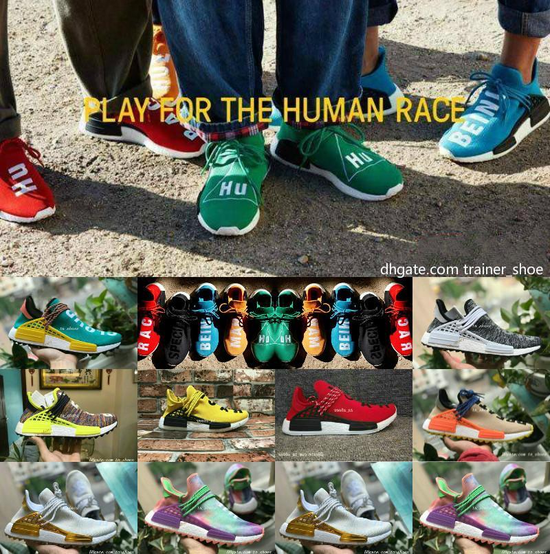 huge discount 69c8b c7ef2 Acquista 2018 New Pharrell Williams Human Race NMD Uomo Donna Sport Scarpe  Da Corsa Nero Bianco Grigio Nmds Primeknit PK Runner XR1 R1 R2 Sneakers A   82.24 ...