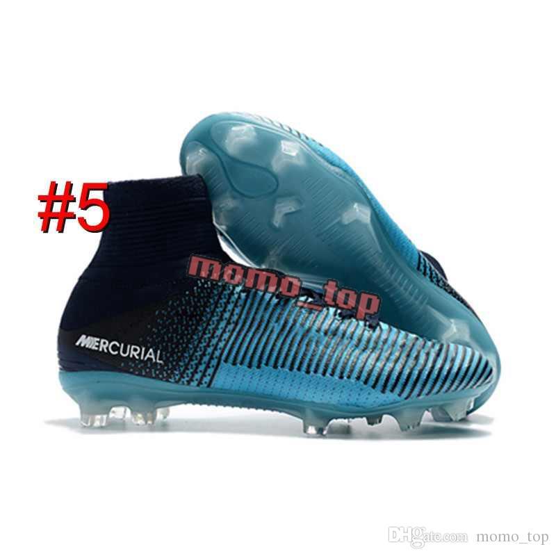 2019 New White Rainbow Original Soccer Cleats Mens Mercurial Superfly V SX Neymar Soccer Shoes Top Quality Cristiano Ronaldo Football Boots