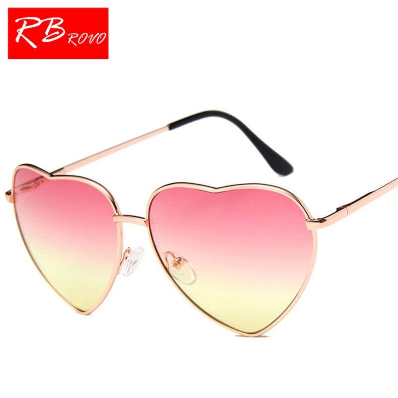Compre RBROVO 2018 New Vintage Coração Óculos De Sol Das Mulheres Designer  De Marca Doce Cor Gradiente Óculos De Sol Ao Ar Livre Óculos De Sol Oculos  De Sol ... 85cf593d0f