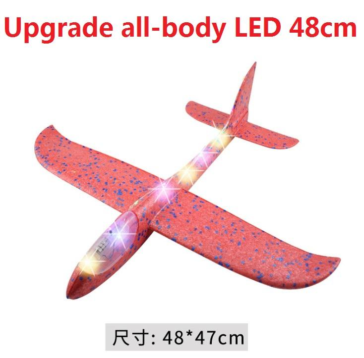 EPP Foam Throwing Glider Airplane LED Night Flying Aircraft Toy Best Gifts