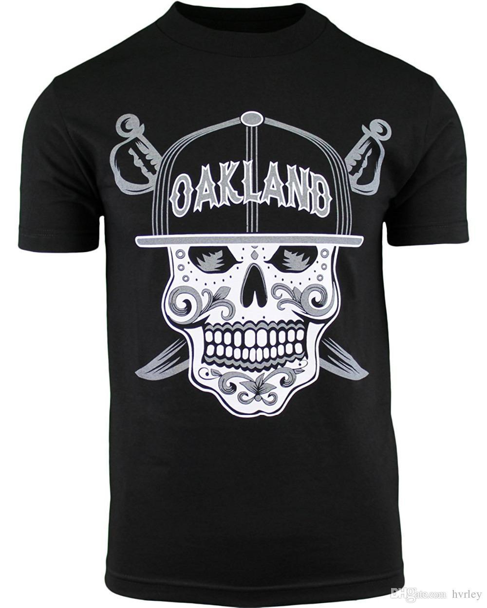 Dag Man Oakland De Van Casual Schedel Patroon T shirt Suiker Dode Mens QxCstrhd