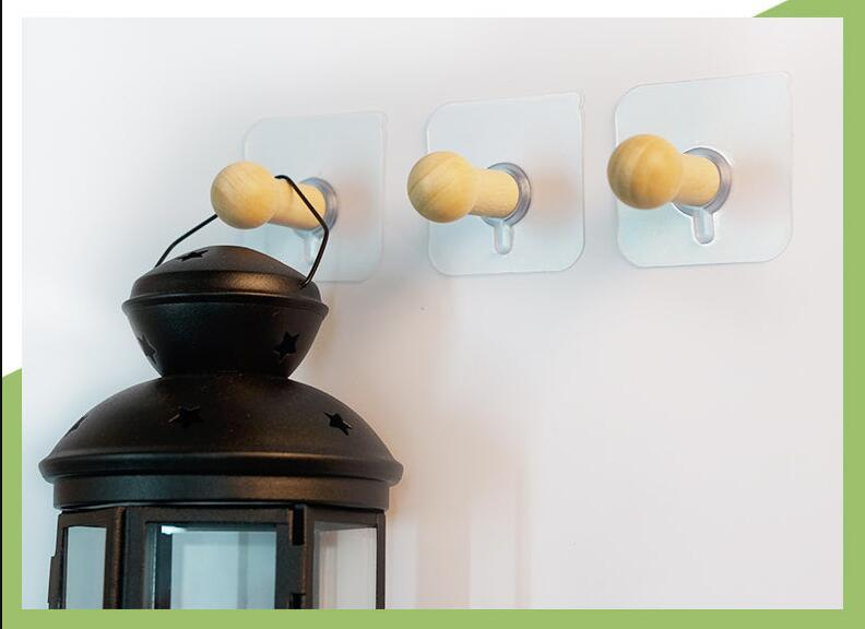 Best Creative Wood Coat Hooks Decorative Wall Hook Minimalist Modern ...