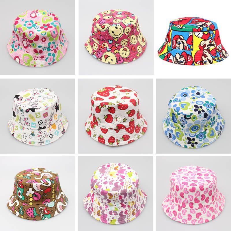 3b52ac1e 2019 30 Styles Children Bucket Hats Kids Sun Hat Floral Baby Sunhat Kids Fishing  Caps Baby Fisherman Hats Cartoon Kids Beach Sun Hats From Mandystore2009,  ...