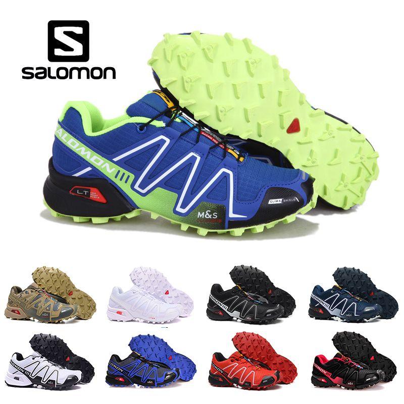 6834edc6e822e Drop Ship Salomon Speed Cross 3 CS III Outdoor Mens Womens Blue Green  Sports Shoes Speed Crosspeed 3 Running Shoes Sneakers Womens Trail Running  Shoes ...