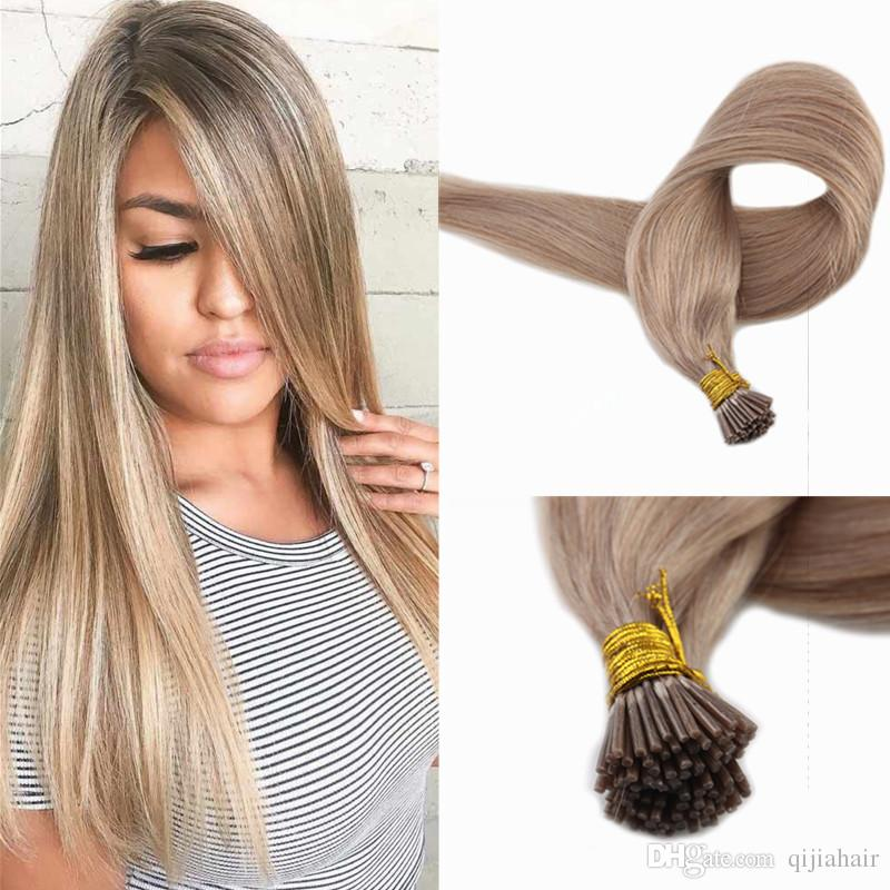 Pre Bonded I Tip Remy Hair Extensions 18 Dirty Blonde 100strands 1g