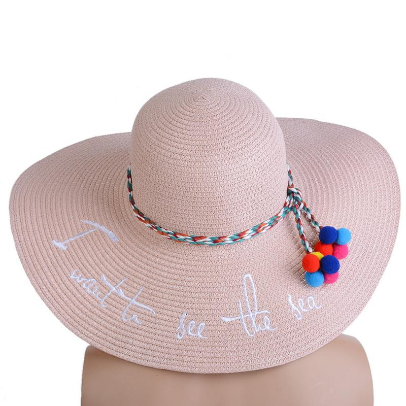 641f6070 NIBESSER Summer New Women's Sun Hat Wide-brimmed Sun Caps Beach Hat Men's  Straw Folding Travel Cap