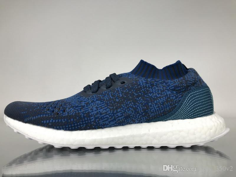info for 69136 515f5 High Quality 2018 Ultra Boosts Uncaged Mens Running Shoes Ultraboost Dark  Blue Trainers Women Navy Multicolor Sports Sneakers