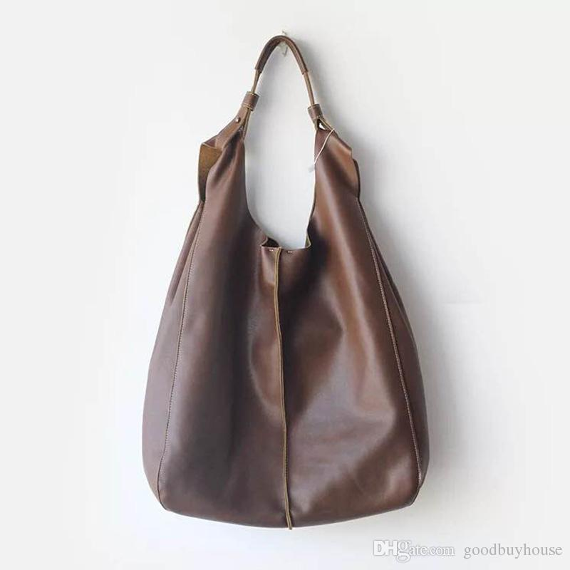 Women Genuine Leather Shoulder Bag Original Design Large Capacity Handbag  Casual Oversized Ladies Shopping Bag Female Sac A Main Mens Leather Bags  Laptop ... aeb889f183180