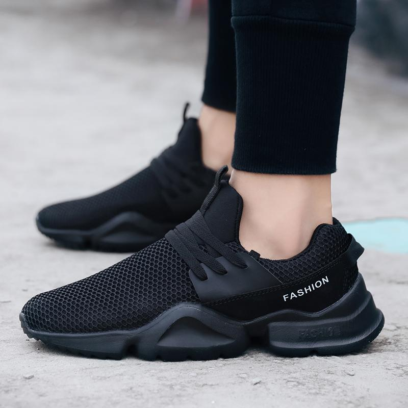 Office & School Supplies Fitness & Body Building Good Hot Sale Running Shoes For Men Lace-up Athletic Trainers Zapatillas Sports Male Shoes Outdoor Walking Sneakers