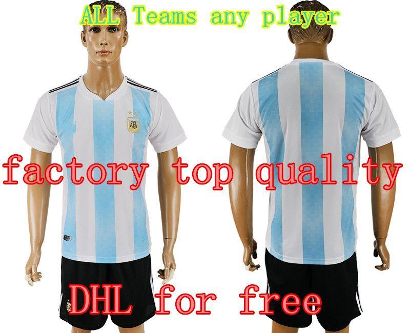 4d1ccc602 DHL for Free 2018 World Cup Argentina Soccer Jersey Home Away Shirt  10  MESSI  9 AGUERO Football Uniform Brazil Spain Belgium Mexico Jerseys Soccer  Jerseys ...
