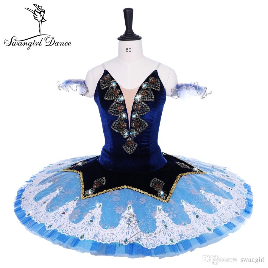 4360fe587 Ballerina niñas traje de ballet bluebird rendimiento competitivo  profesional tutú mujeres por encargo vestido de tutú panqueque BT9191