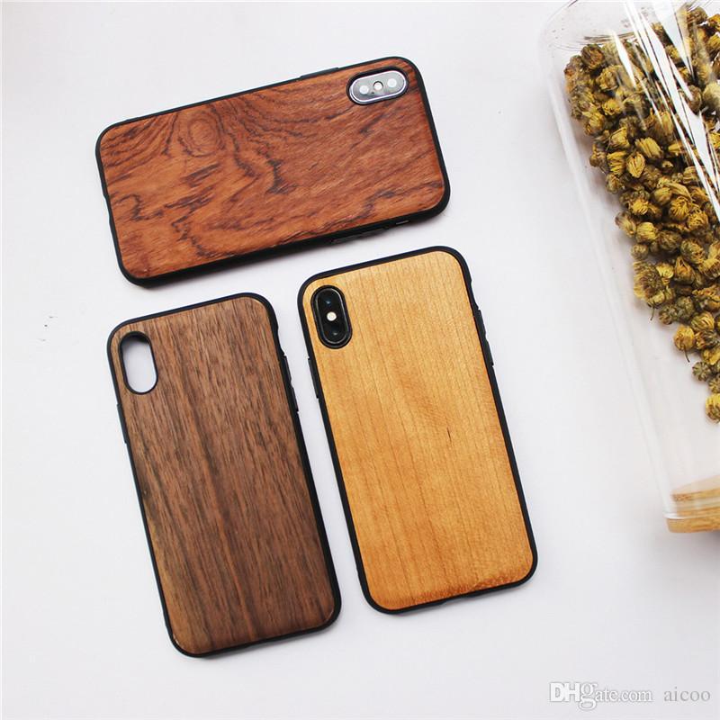 796f609178a Carcasas Para Celular Simplicity Real Wood Con Funda De TPU Suave Funda De  Madera A Prueba De Golpes Para Apple IPhone X 8 7 6s Plus Carcasa Celular  Por ...