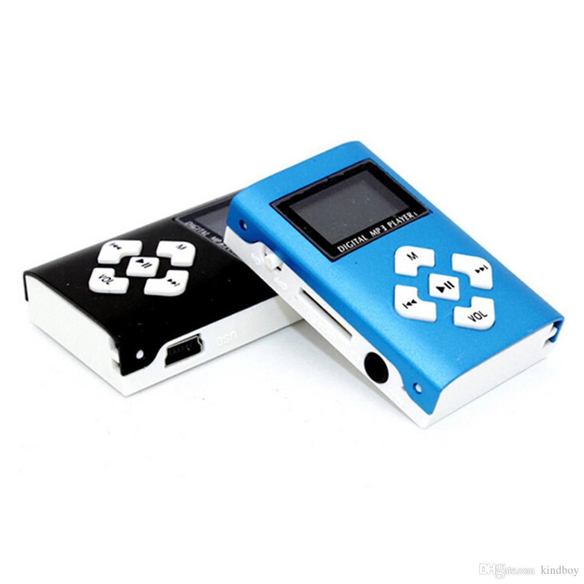 Marcação quente Mini USB Clipe MP3 Player Tela LCD Suporte 32 GB Micro SD Cartão TF Digital Mp3 players
