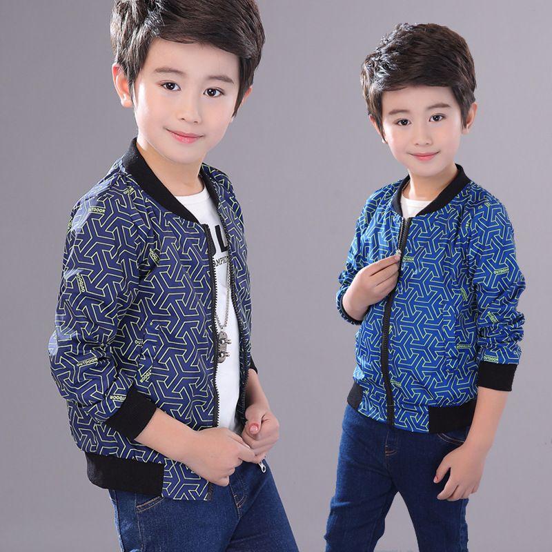 3dbcb81a50903 2018 Teenage boys fashion printed Jackets Spring Autumn children outwear  coats big boy casual zipper Jacket coat clothes Tops