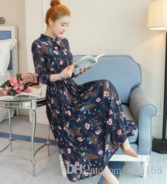 Acquista 2018 Primavera E L estate Nuovo Stile Coreano Vestito f82a1ab3f3a