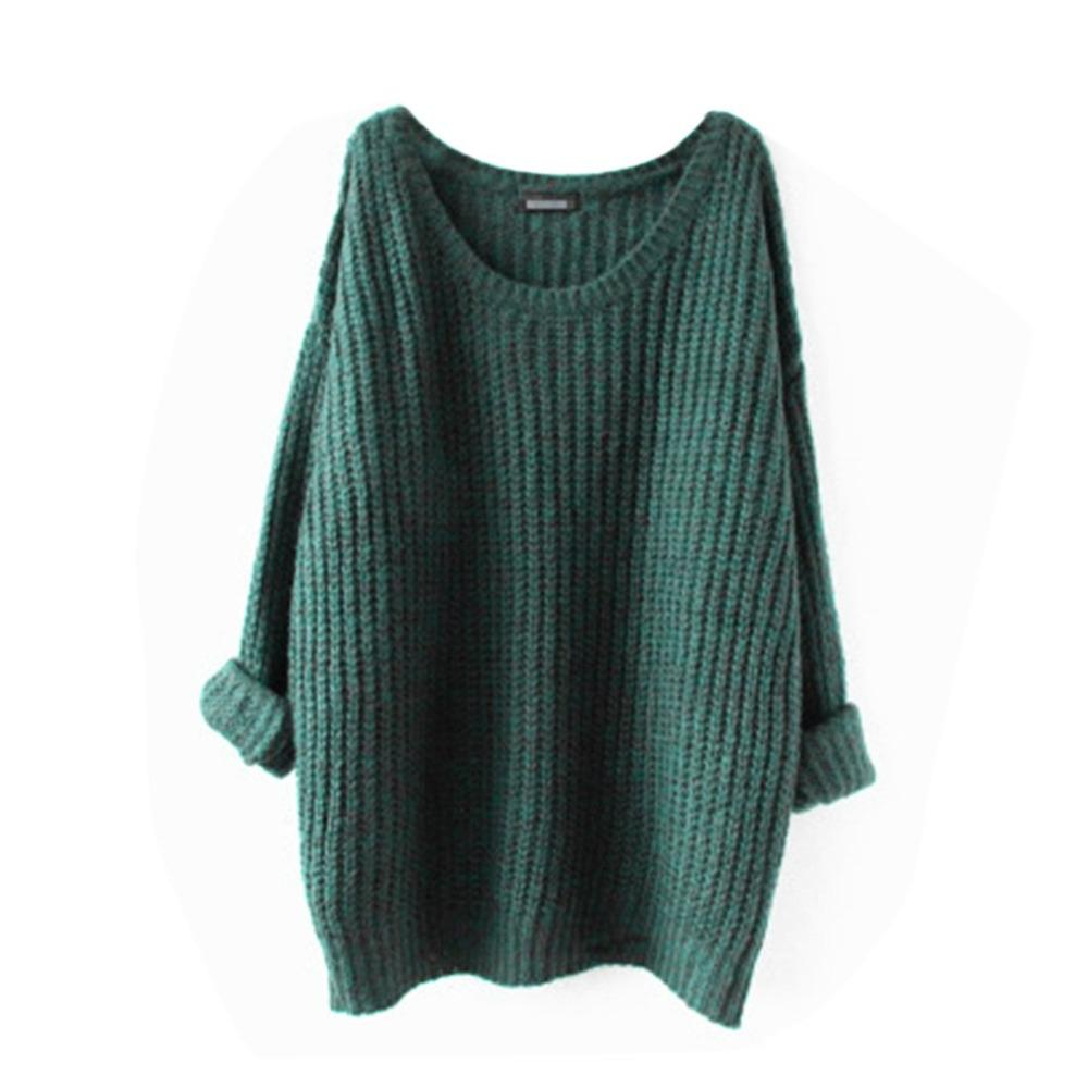 4d2cc8ba9cfe 2019 Medium Length Women Loose Sweaters Round Collar Slim Fit Warm  Pullovers Leisure Daily Wear Autumn Female Knitting Tops From Carawayo,  $47.39 | DHgate.