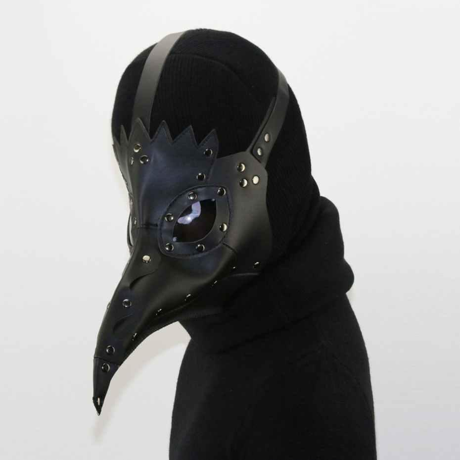 Steam punk Plague Bird Doctor Nose Cosplay Fancy Gothic Medieval Steampunk Retro Rock Mask for Masquerade Party Halloween Costume 30X20X25CM