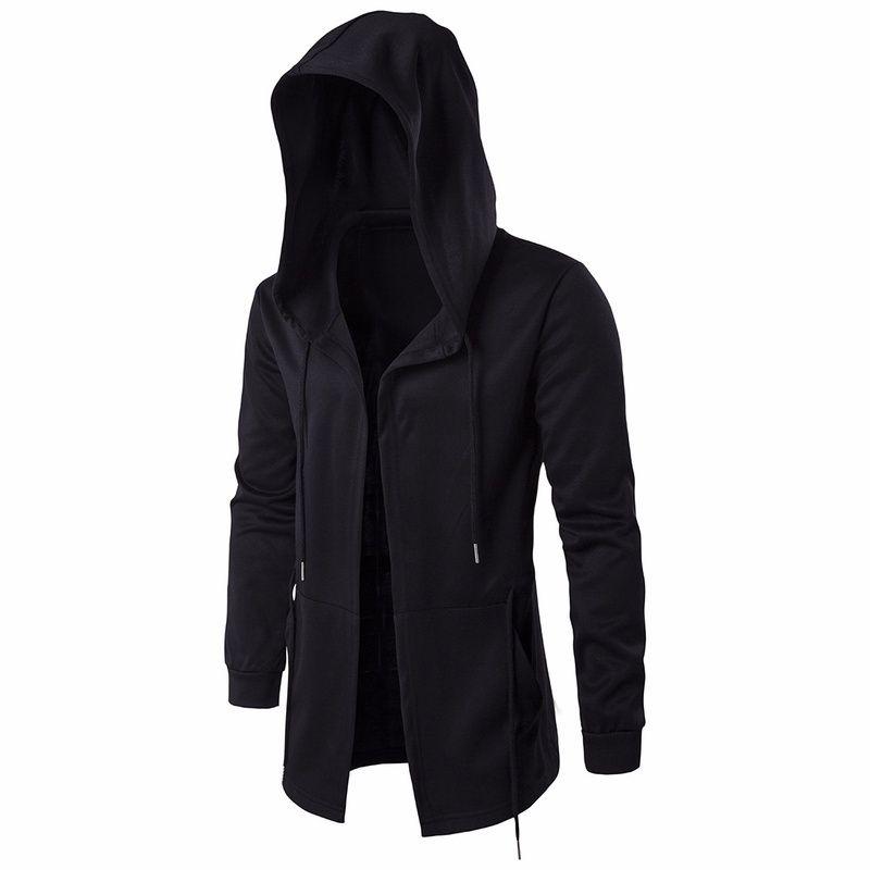Mens Ninja Hoodie Sweatshirt solide Mode Kapuzenjacke Mantel für Männer männliche Kapuzenjacke