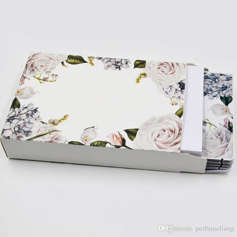 13 * 4 * 19cm bianco carta di cartone di cartone scatola di imballaggio di carta fiore design favore di cerimonia nuziale regalo scatola di imballaggio ZA6609