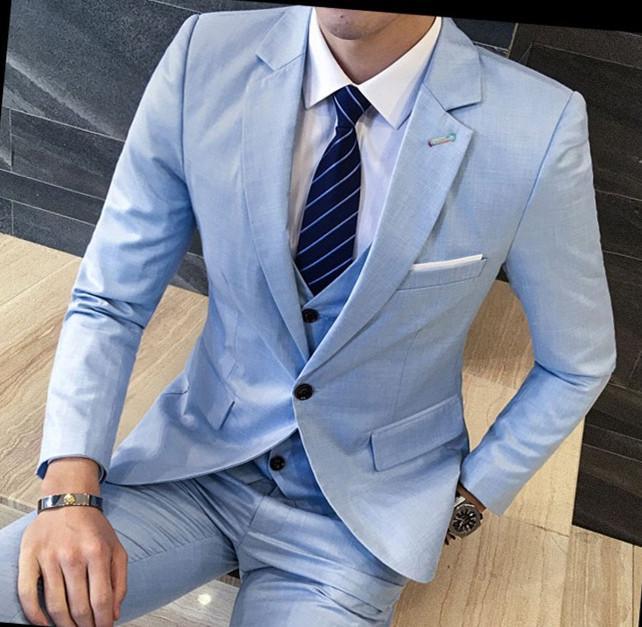 Compre Traje De Hombre De Moda Slim Fit Sólido Terno Masculino Otoño  Invierno Informal Para Hombre Desgaste Formal Negocio Vestido De Traje De  Los Hombres ... 31a8d09a142b