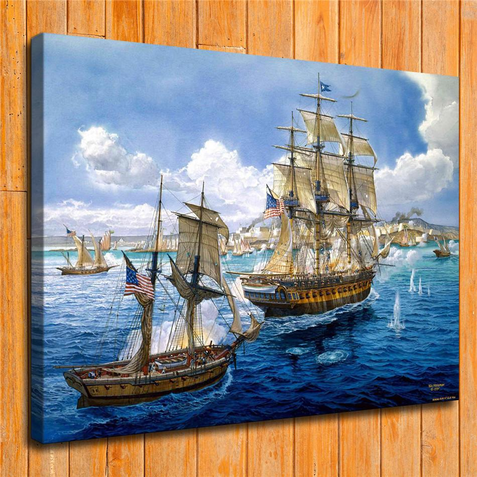 2019 Sailing ShipHome Decor HD Printed Modern Art Painting On Canvas Unframed Framed From Qq53561562 513