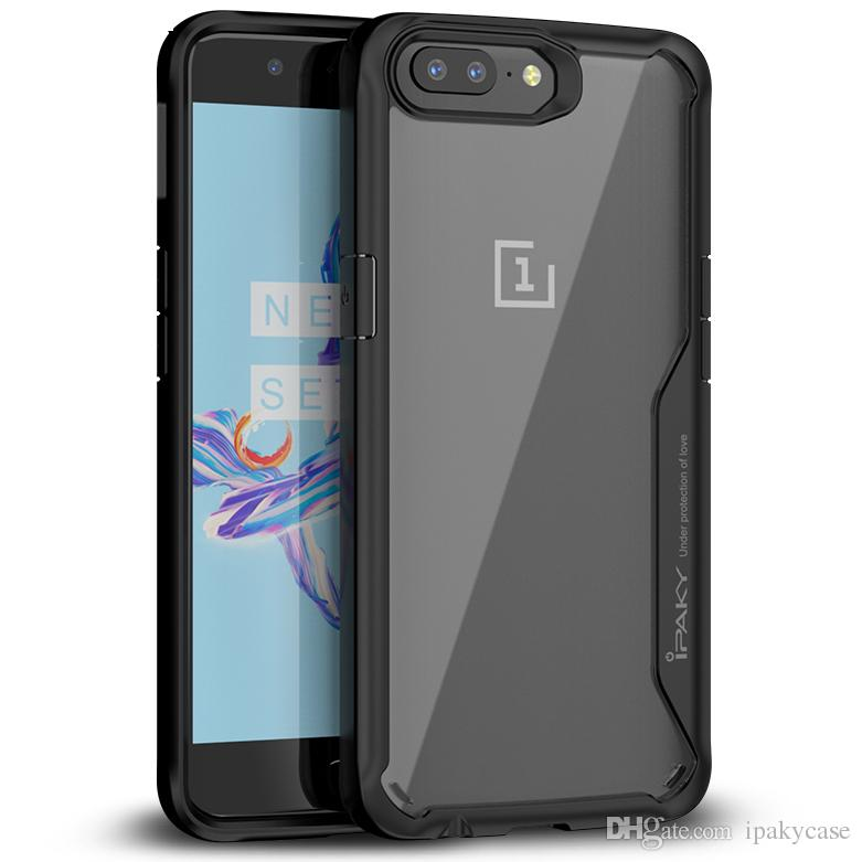 premium selection 9fd12 2864f iPaky Oneplus 5 Transparent Case 1 5 Armor Drop-proof Shockproof Airbag  Back Cover PC TPU Cases With Package In Stock